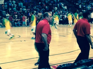Thibs at USA Basketball Game summer 2015.