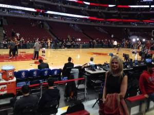 Me and DRose at the Bulls vs. Cavs game (Bulls  home opener) on Halloween 2014.